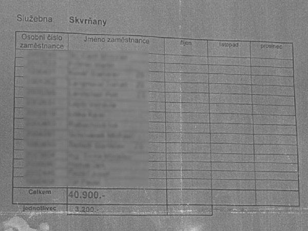 Interní dokument Městské policie vPlzni