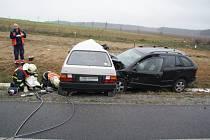 Při nehodě u Třemošné zemřel řidič jednoho z aut a také pes