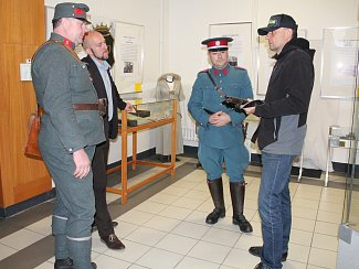 Výstava Četníci z Luhačovic v Klatovech.