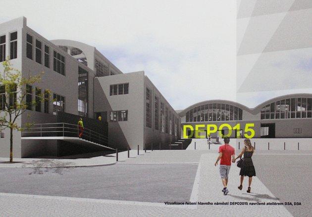 DEPOTUTOJE - vizualizace areálu v roce 2021 podle ateliéru D3A.