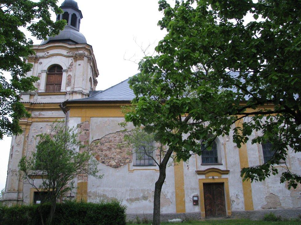 Kostel svatého Václava v Čisté.