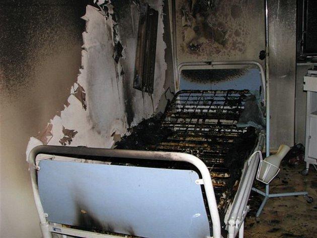 Požár ve Fakultní nemocnici v Plzni