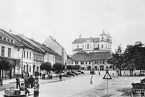 Přeštice na historických fotografiích - značka.