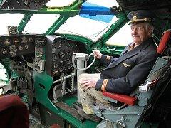 Karel Tarantík interier letadlo TU 104 Muzeum Air Park