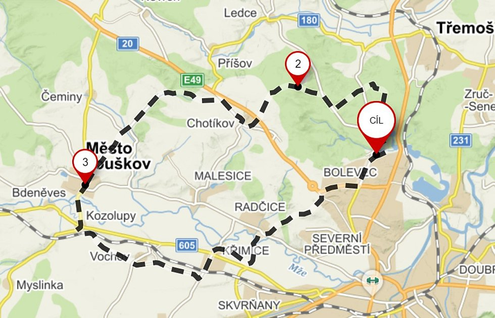 Mapa trasy