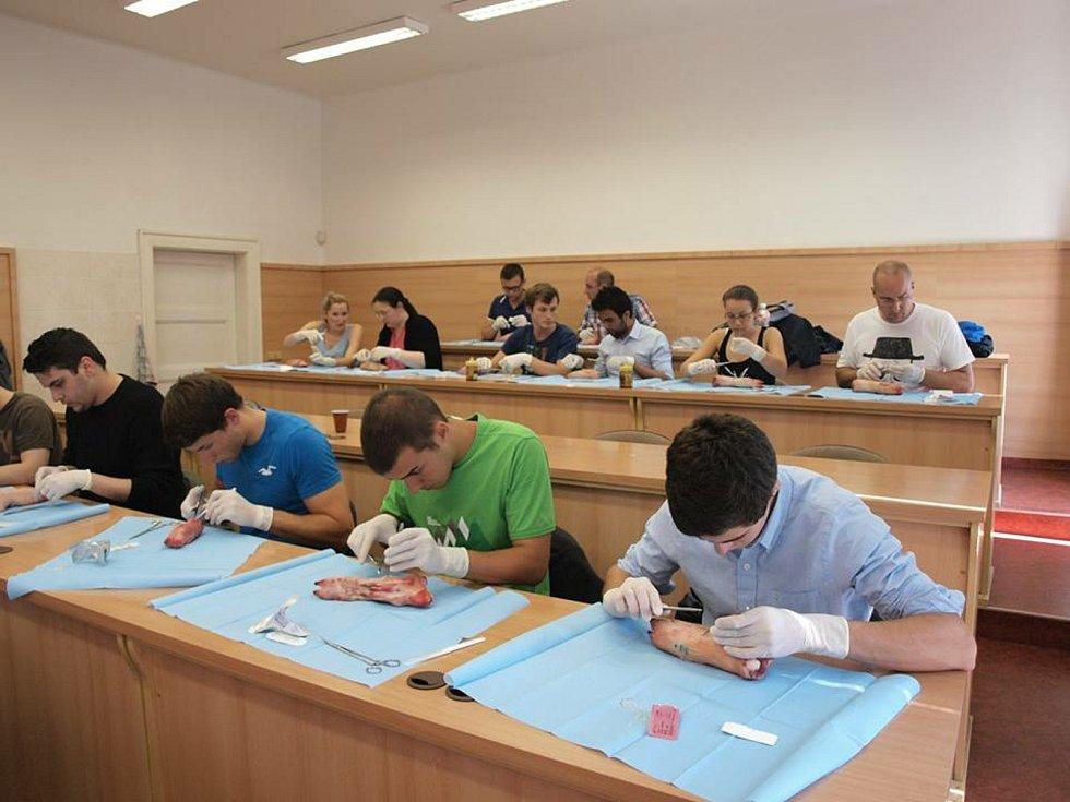 Letní škola experimentální chirurgie v Biomedicínském centru Lékařské fakulty v Plzni Univerzity Karlovy.