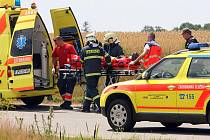 Nehoda dvou osobních automobilů u Letkova si vyžádala jedno zranění