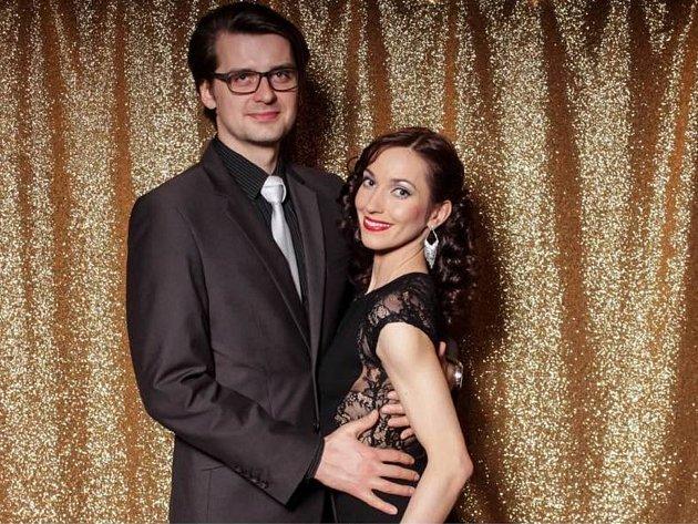 Jarmila Hruškociová získala uměleckou cenu města Plzně za kulturní přínos (v kategorii do 30 let). Na snímku je s manželem s Jozefem Hruškocim.