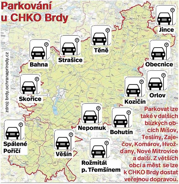 Kde zaparkujete, když se chcete vydat do CHKO Brdy?