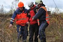 Psí záchranáři trénovali hledání lidí