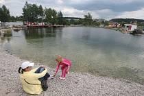 Nové jezírko na břehu borské přehrady