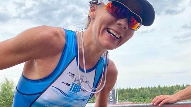 Úřadující česká šampionka v terénním triatlonu Jindřiška Zemanová.