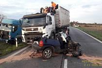 Nehoda u Přeštic.