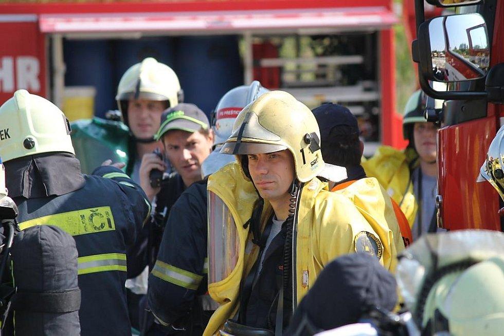 Cvičení složek Integrovaného záchranného systému v Chlumčanech