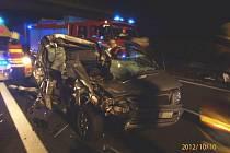 Ranní nehoda na D5 u sjezdu na Ejpovice