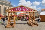 Velikonoční trhy na Náměstí republiky v Plzni