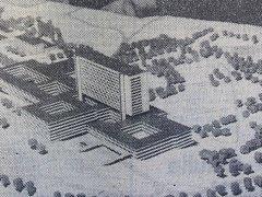 Pravda, 16. února 1968. Model nové nemocnice.