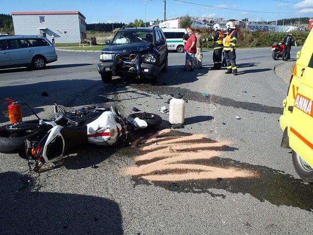 Dopravní nehoda u Mýta