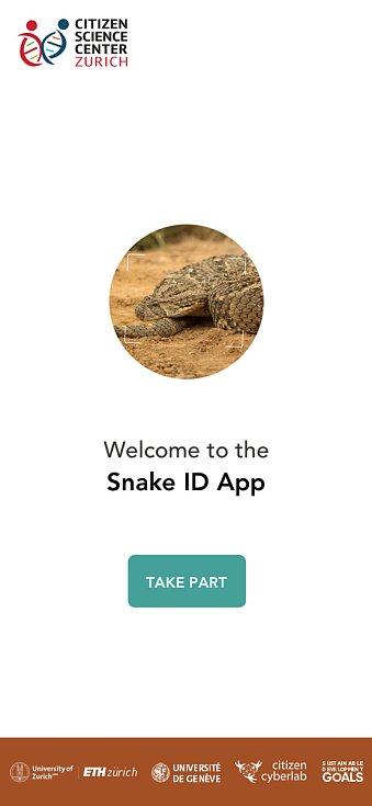 Aplikace na rozpoznávání hadů.