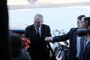 Miloš Zeman v Domažlicích
