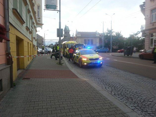 Zásah IZS v Koperníkově ulici.