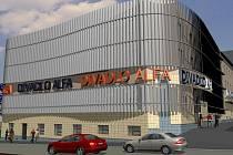 Vizualizace nové fasády Divadla Alfa