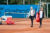 Na tenisových kurtech Slavia v Plzni byl zahájen turnaj EX Pilsen Wilson Cup.