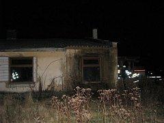Požár v budově byvalého kravína v Losiné