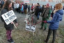 Protest Roudeňáků proti demolici domu č. p. 40