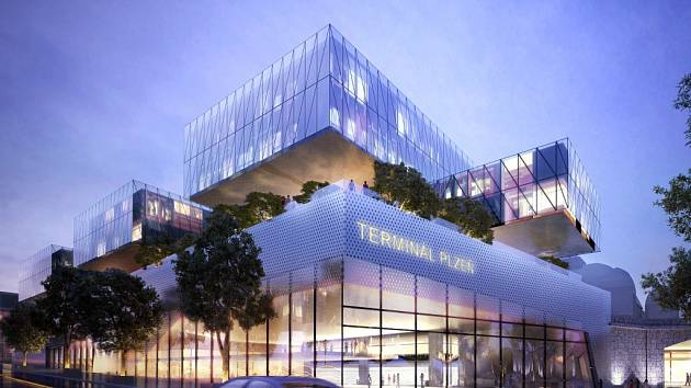 Návrh nového plzeňského dopravního terminálu
