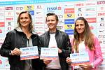 Zleva oštěpařka Barbora Špotáková, čtvrtkař Pavel Maslák a maratonkyně Marcela Joglová.