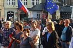 Tady není Rusko protest setkání spolek Milion chvilek pro demokracii náměstí Republiky cca 400 učastníků