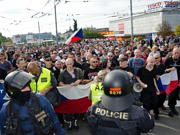 Extremisté prošli Plzní.