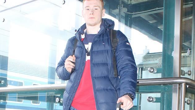 Tomáš Piroch před středeční cestou vlakem z Plzně do německého Melsungenu.