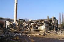 Výbuch kotle v kotelně v Černé Hati způsobil zřícení celého objektu