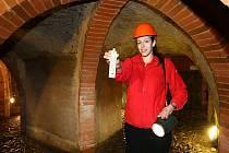 Historické podzemí. V městském podzemí teplota klesá až na 12 stupňů