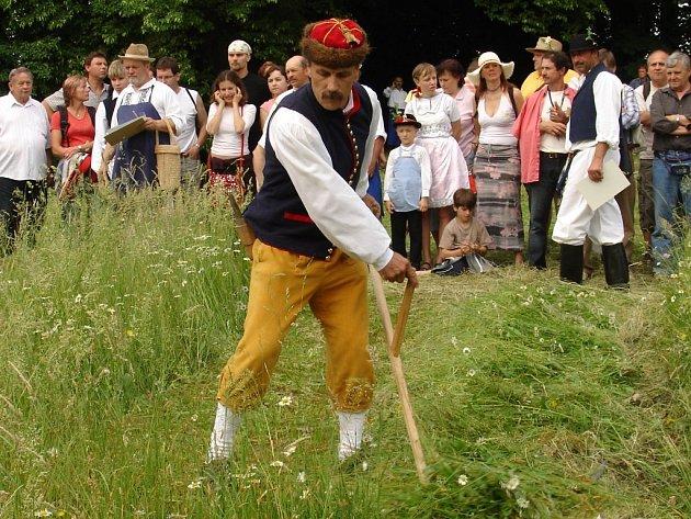 Sekáč z Radošic na severním Plzeňsku patří k nejúspěšnějším účastníkům klání  O nejlepšího sekáče Slovácka. Už několik let  je jedním z  favoritů v této disciplíně. V ní jde o rychlost, kvalitu a styl sečení a také o to, jak je soutěžící ustrojen