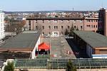 Odběrové místo na testy koronaviru ve Fakultní nemocnici Plzeň na Borech