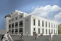 Vizualizace technologického centra TechTower. Jeho stavba je jednou z velkých investičních akcí, které jsou v rozpočtu Plzně pro rok 2021.