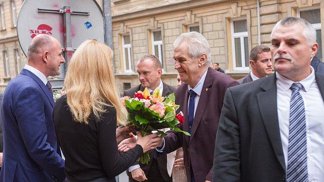 Prezident Miloš Zeman na návštěvě v Plzeňském kraji