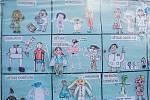 Plzeňské děti kreslily zdravotníky. Děkují tak za jejich práci.