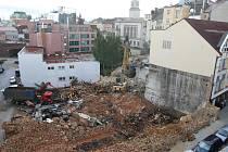 Demolice haly bývalé Škodovky v Kovářské ulici
