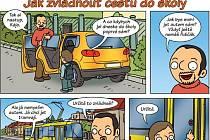 Komiks zve školáky do veřejné dopravy