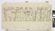 Návrh vlysu - Návrat legií, 1921, Muzeum umění Olomouc