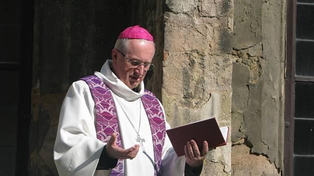 Plzeňský biskup František Radkovský požehnal začátku rekonstrukce prostor pro nové muzeum církevního umění