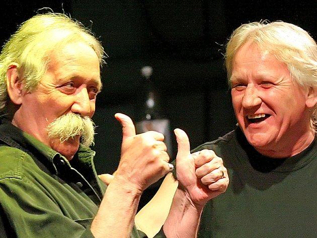 Jiří 'Dědek' Šindelář (vlevo) a Oldřich Říha