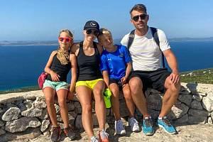 Petr Smíšek s rodinou.