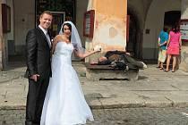 č. 93: Petra a Radovan Uhlířovi, Domažlice (Svatba: 23. srpna 2014)
