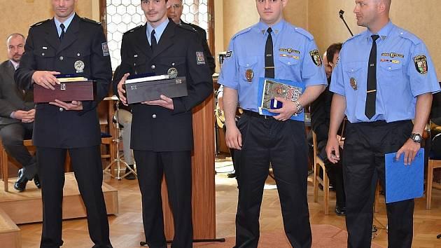 Slavnostní předání ocenění městským policistům