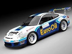 Nový závodní vůz Václava Pecha - Porsche, typ  997-GT-3